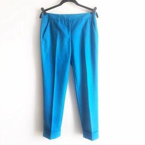 Vince Camuto Bright Blue Crop Dress Pants Size 2